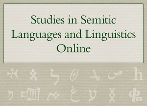 Cover Studies in Semitic Languages and Linguistics Online
